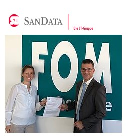 Kooperation der FOM Hochschule Nuernberg mit dem IT-Dienstleister SanData